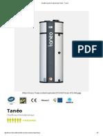 Chauffe-eau Thermodynamique Tanéo - Tresco