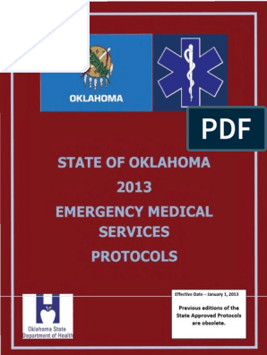 2013 State of Oklahoma EMS Protocols | Emergency Medical