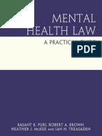 Basant K. Puri, Robert a. Brown, Heather J. McKee-Mental Health Law