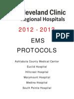 2012 Cleveland Clinic Regional Hospitals EMS Protocol