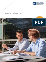 Brochure Master of Finance 2014