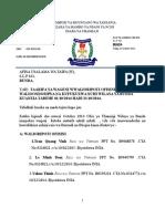 Taarifa Ya Dso Mwezi October 2014
