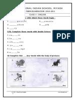I English Worksheet FinalTerm