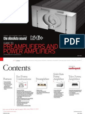 Preamps and Amps Buyers Guide | Amplifier | Vacuum Tube