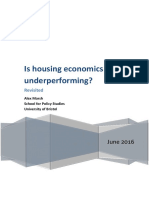 Is Housing Economics Underperforming? Revisited