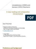 Gödel's completeness (1930) nd incompleteness (1931) theorems