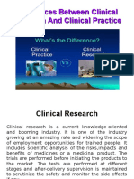 Clinical Research vs Clinical Practice