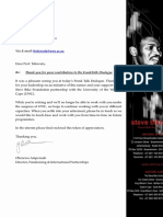Letter to Prof Tshiwula