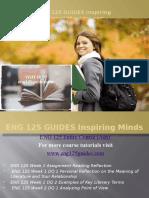 ENG 125 GUIDES Inspiring Minds/eng125guides.com