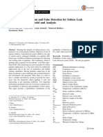 Probability of Detection and False Detection for Subsea Leak