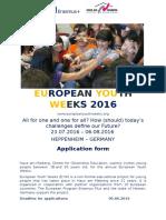 EYW2016 Invitation