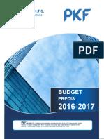 Budget Precis 2016-17