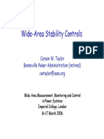 Wide-Area Stability Controls - Carson Taylor