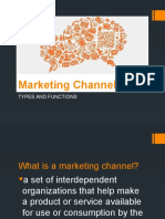 Marketing Channels Report