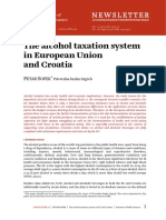 The Alcohol Taxation System in European Union and Croatia