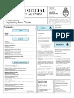 Boletín Oficial de la República Argentina, Número 33.395. 08 de junio de 2016