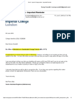 Imperial College London Offer Letter