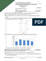 Evaluarea Națională- proba de Matematică 2016, olimpici, Var 04