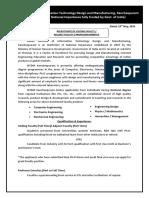 Advertisement Matter-Website IIITDM Kancheepuram