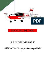 Manuel de vol MS893E