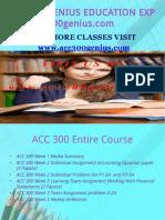 ACC 300 GENIUS TEACHING EFFECTIVELY / acc300genius.com