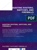 Auditing Routers, Switches, And Firewalls