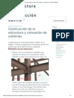 Construcción de La Estructura y Colocación de Cubiertas - Arquitectura y Construcción Básica