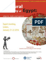 A Cultural Biography of Egypt Leiden January 2016 Programme & Information