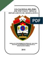 Manual de Procedimientos Periciales Criminalistica 2015