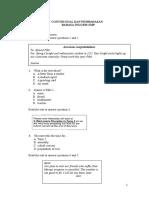 Soal Latihan UN SMP Bahasa Inggris