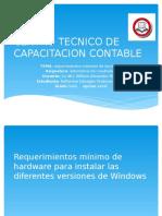 requerimiento mínimo de hardware para instalar la s diferentes versiones de windows incluyendo Linux Ubuntu