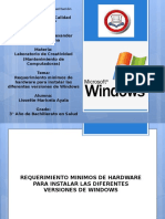 Requerimiento Minimos de Hardware Para Instalar Windows