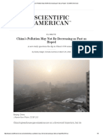 China's Pollution May Not Be Decreasing as Fast as Hoped - Scientific American
