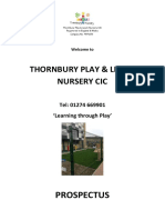 Thornbury Play & Learn Prospectus