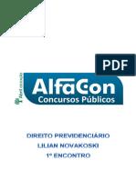 Alfacon Tecnico Do Inss Fcc Direito Previdenciario Lilian Novakoski 1o Enc