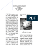 application of dc shunt motor