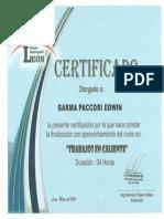certificado de trabajo en caliente