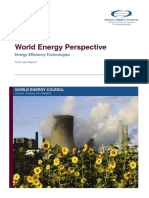 World Energy Perspectives Energy Efficiency Technologies Overview Report