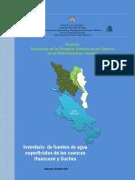 Inventario Fuentes Hidricas Superficiales - Cuencas Huancane y Suches 0