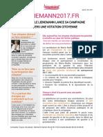Communiqué de presse de Marie-Noëlle Lienemann - lancement du site primaires