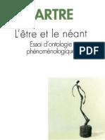 J.P Sartre - L'être et Le néant
