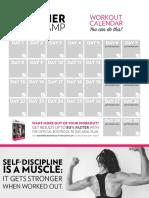 BodyRock Beginner Bootcamp Calendar