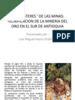 Unidad 5 Tecnificación de La Minería Del Oro - Luis Miguel Hoyos