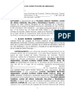 Modelo de constitucion de abogado hernan leyba
