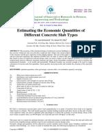 Estimating the Economic Quantities Ofdifferent Concrete Slab Types