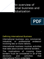 1.1 an Overview of International Business and Globalization