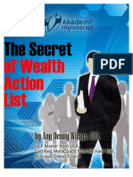 Secret of Wealth Action List
