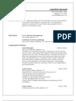 Jobswire.com Resume of lrbennett_1