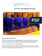 Comparison of 4 Different Flow Control Methods of Pumps