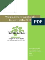 Programa Romina Pismante - AEDA Vocalía de Medioambiente